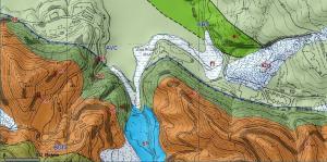 Carta geologica dellla riva meridionale del lago Brasimone