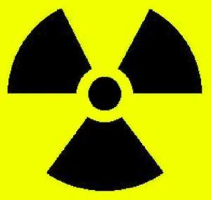 simbolo rischio radiazione