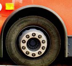 ruota di autobus urbano inglese
