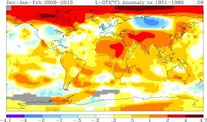 riscaldamento globale: temperature inverno 2009 2010