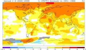 riscaldamento globale: temperature medie del pianeta