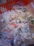 sporta per la spesa biodegradabile decomposta