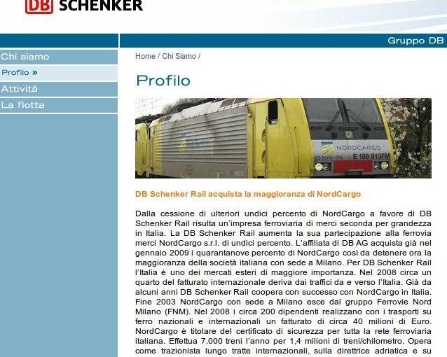dati attività azienda nordcargo - merci trasportate e fatturato