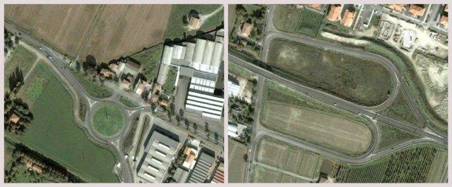 rotatoria ed intersezione stradale a livelli sfalsati, provincia di Modena