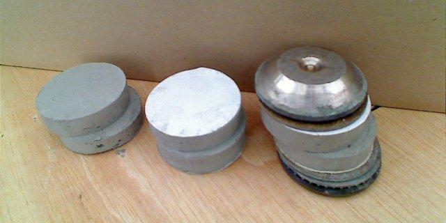 provini tagliati e componenti apparato taglio diretto