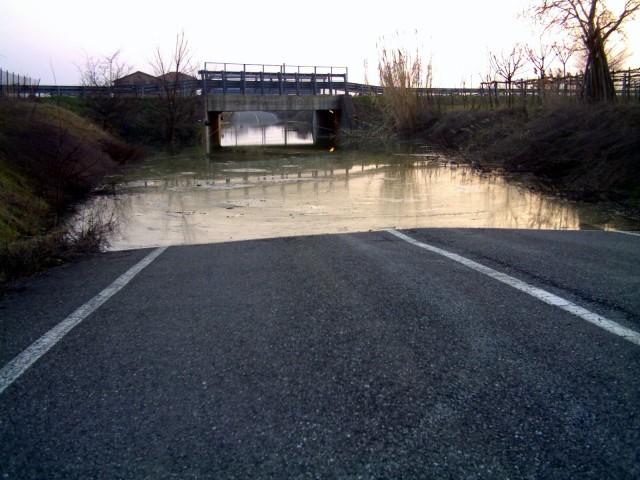 sottopassaggio allagato dopo forti piogge, anas, strada, manutenzione