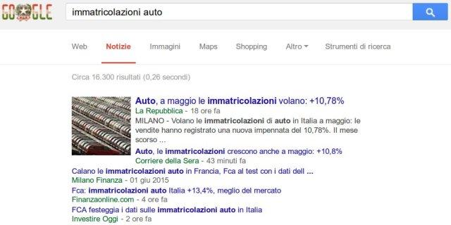 Immatricolazioni auto da record in Italia a maggio 2015.