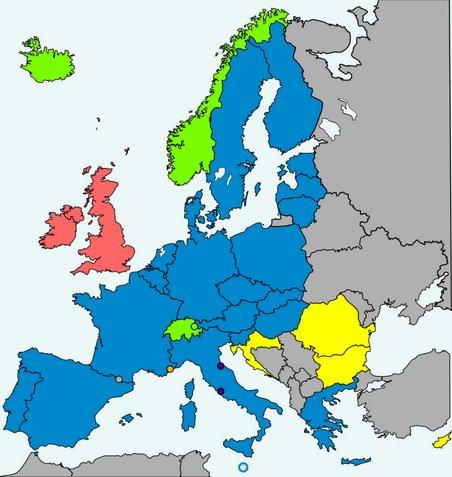 i paesi d'europa che partecipano a schengen
