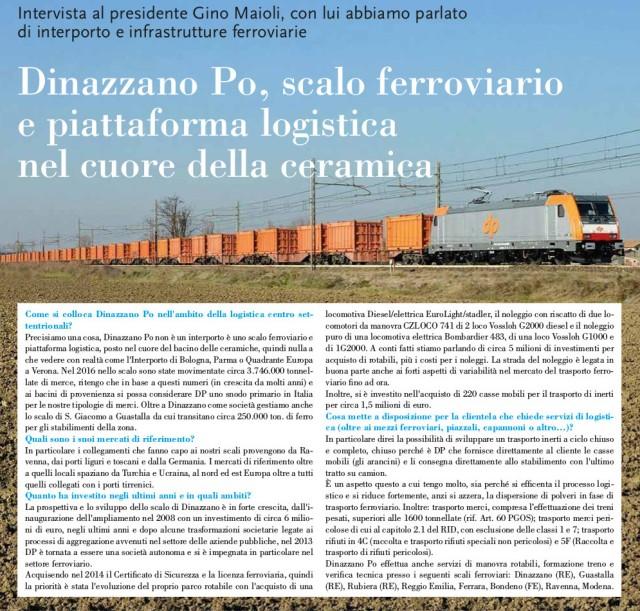 scalo merci dinazzano po, porto ravenna, trasporto intermodale, rete ferroviaria, tonnellate merci trasportate